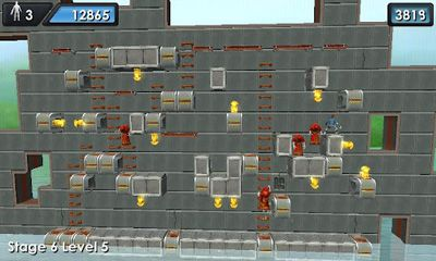 Screenshots of the Lode Runner X for Android tablet, phone.