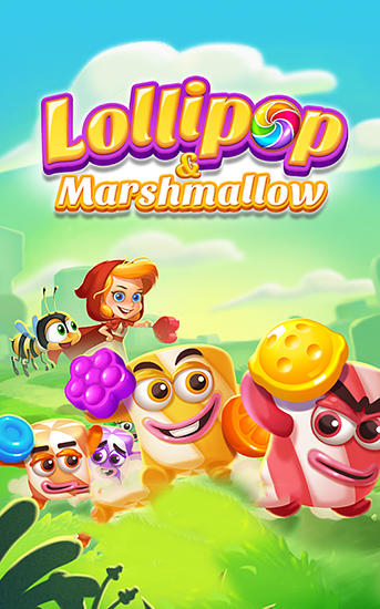 Lollipop and marshmallow match 3 poster