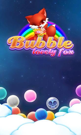 Lovely fox bubble poster