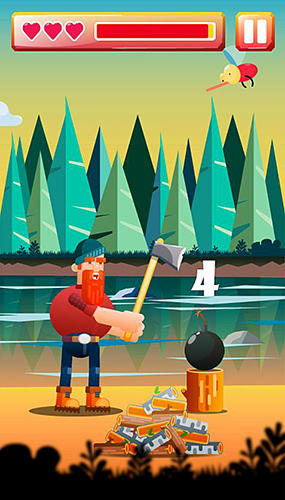 Lumberjack Tom: Cut with an axe screenshot 2
