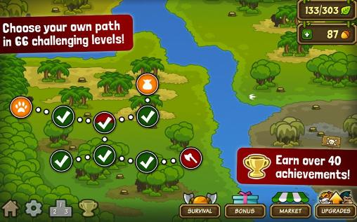 Screenshots von Lumberwhack: Defend the wild für Android-Tablet, Smartphone.