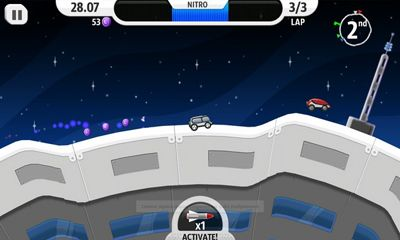 Screenshots do Lunar Racer - Perigoso para tablet e celular Android.