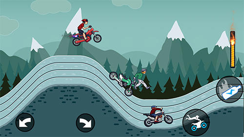 Mad motor: Motocross racing. Dirt bike racing für Android spielen. Spiel Mad Motor: Motocross Rennen. Dirt Bike kostenloser Download.