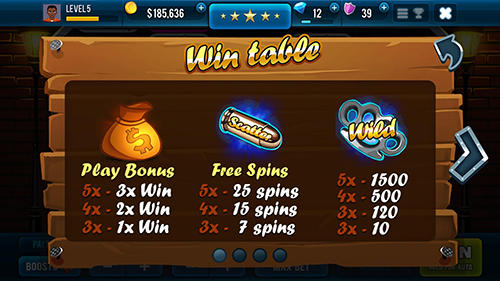 Mafioso casino slots game screenshot 1