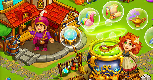 Kostenloses Android-Game Magisches Land: Märchen Stadtfarm. Vollversion der Android-apk-App Hirschjäger: Die Magic country: Fairytale city farm für Tablets und Telefone.