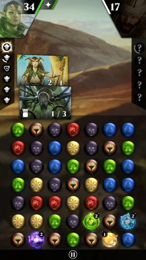 Android タブレット、携帯電話用Magic: The gathering. Puzzle questのスクリーンショット。
