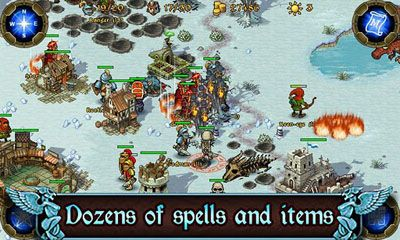 Screenshots of the Majesty: The Northern Expansion for Android tablet, phone.