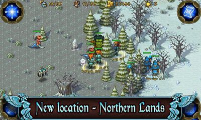 Écrans de Majesty: The Northern Expansion pour tablette et téléphone Android.
