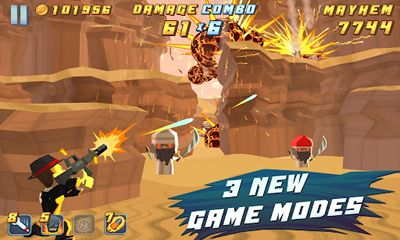 Screenshots of the Major Mayhem for Android tablet, phone.