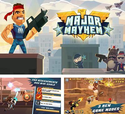 In addition to the game Guerrilla Bob for Android phones and tablets, you can also download Major Mayhem for free.