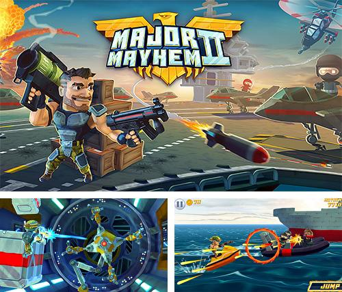 Zusätzlich zum Spiel Major Mayhem für Android-Telefone und Tablets können Sie auch kostenlos Major mayhem 2: Action arcade shooter, Major Mayhem 2: Action Arcade Shooter herunterladen.
