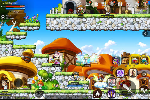 Screenshots von Maplestory M für Android-Tablet, Smartphone.