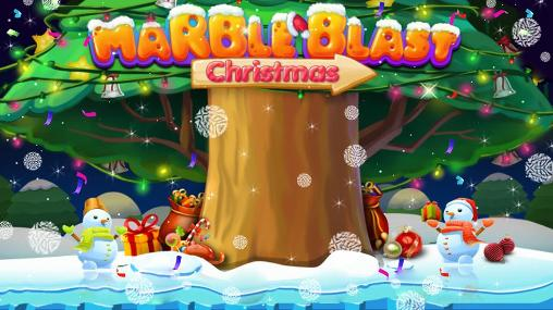 Marble blast: Merry Christmas poster