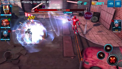 Геймплей Marvel: Future fight для Android телефону.
