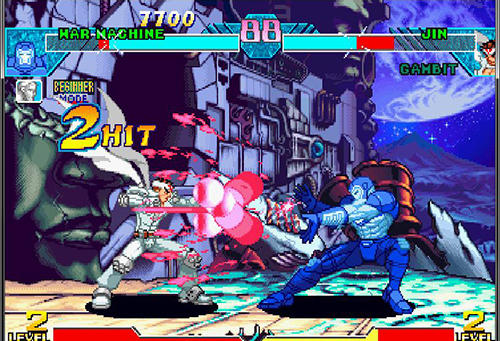 Screenshots do Marvel vs. Capcom: Clash of super heroes - Perigoso para tablet e celular Android.