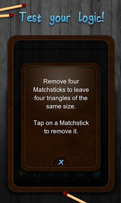Screenshots do Matchstick Puzzles - Perigoso para tablet e celular Android.