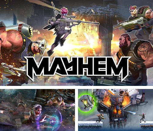Zusätzlich zum Spiel Metalfaust für Android-Telefone und Tablets können Sie auch kostenlos Mayhem: PvP multiplayer arena shooter, Mayhem: PVP Multiplayer Arena Shooter herunterladen.