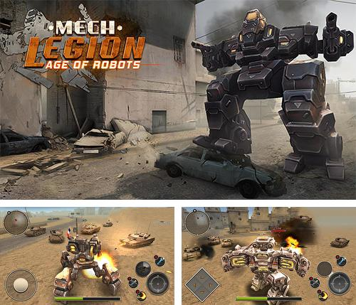 In addition to the game Robot warfare: Battle mechs for Android phones and tablets, you can also download Mech legion: Age of robots for free.