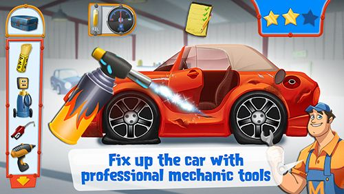 Kostenloses Android-Game Mechaniker Mike: Das erste Tuning. Vollversion der Android-apk-App Hirschjäger: Die Mechanic Mike: First tune up für Tablets und Telefone.