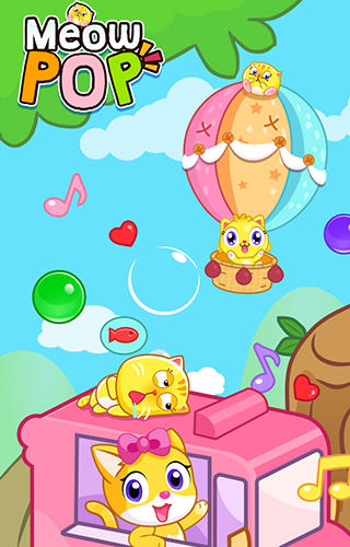 Meow pop: Kitty bubble puzzle poster
