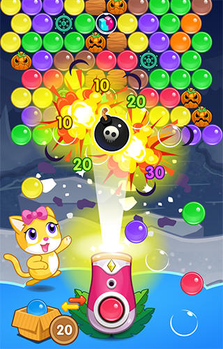 Meow pop: Kitty bubble puzzle screenshot 2