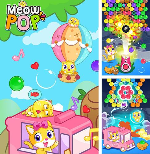 Meow pop: Kitty bubble puzzle