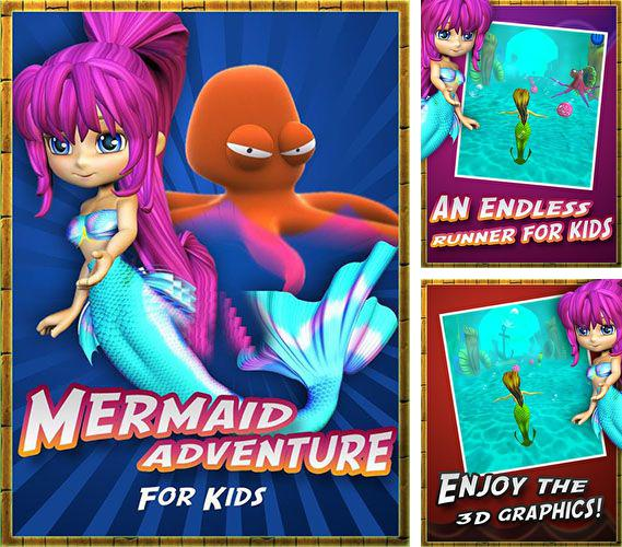 In addition to the game Color & Draw For Kids for Android phones and tablets, you can also download Mermaid adventure for kids for free.