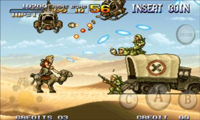 Screenshots of the Metal Slug 3 v1.7 for Android tablet, phone.