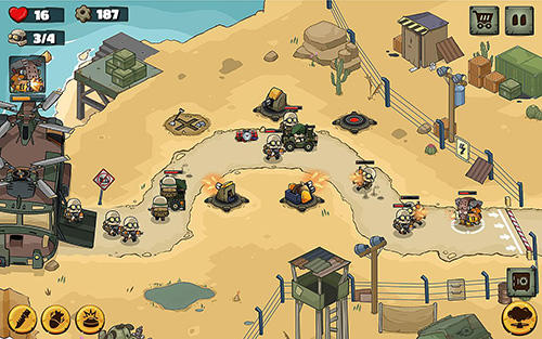 Capturas de pantalla de Metal soldiers TD: Tower defense para tabletas y teléfonos Android.