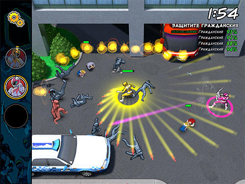 Screenshots von Mighty morphin: Power rangers. Morphin missions für Android-Tablet, Smartphone.