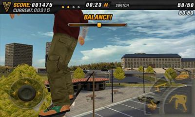 Screenshots von Mike V: Skateboard Party HD für Android-Tablet, Smartphone.