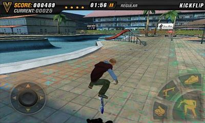 Скріншот гри Mike V: Skateboard Party HD на Андроїд планшет і телефон.