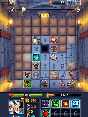 Android タブレット、携帯電話用Minesweeper: Endless dungeonのスクリーンショット。