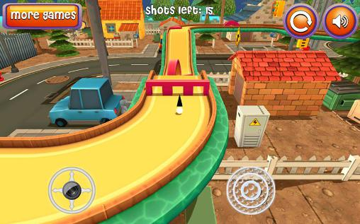 Kostenloses Android-Game Mini Golf: Cartoon Stadt. Vollversion der Android-apk-App Hirschjäger: Die Mini golf: Cartoon city für Tablets und Telefone.