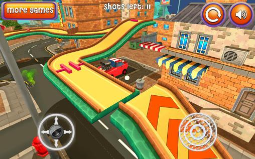 Screenshots von Mini golf: Cartoon city für Android-Tablet, Smartphone.