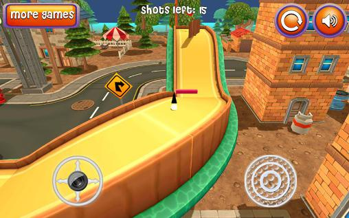 Геймплей Mini golf: Cartoon city для Android телефону.