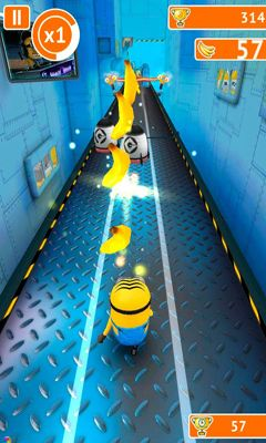 Скріншот гри Despicable Me Minion Rush на Андроїд планшет і телефон.