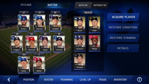 Screenshots von MLB Perfect inning für Android-Tablet, Smartphone.