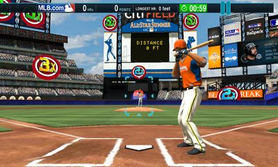 Screenshots of the MLB.com Home Run Derby for Android tablet, phone.