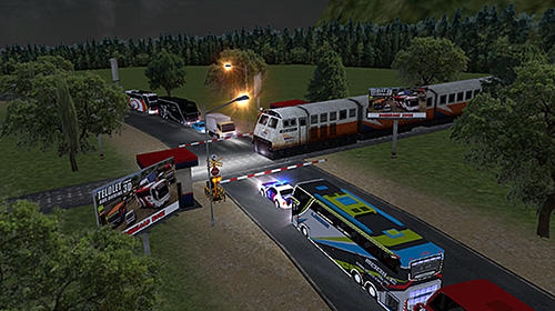 Screenshots of the Mobile bus simulator for Android tablet, phone.