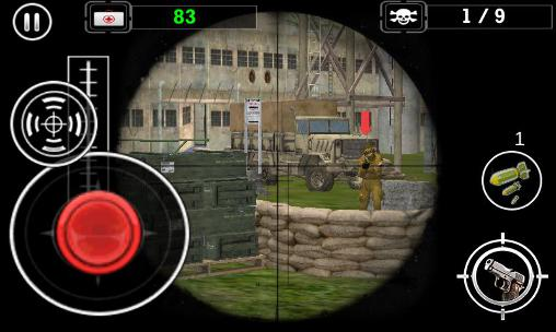 Скріншот гри Modern army sniper shooter 3 на Андроїд планшет і телефон.