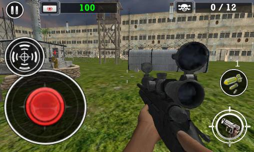Геймплей Modern army sniper shooter 3 для Android телефону.