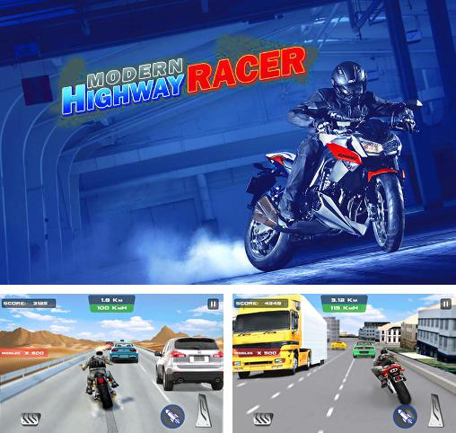 In addition to the game Highway Rider for Android phones and tablets, you can also download Modern highway racer 2015 for free.