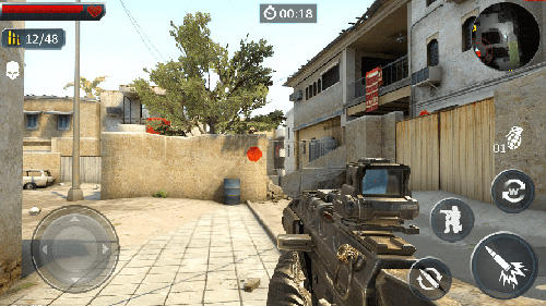 Screenshots von Modern strike sniper 3D für Android-Tablet, Smartphone.