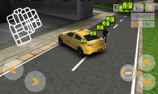 Screenshots von Modern taxi driving 3D für Android-Tablet, Smartphone.