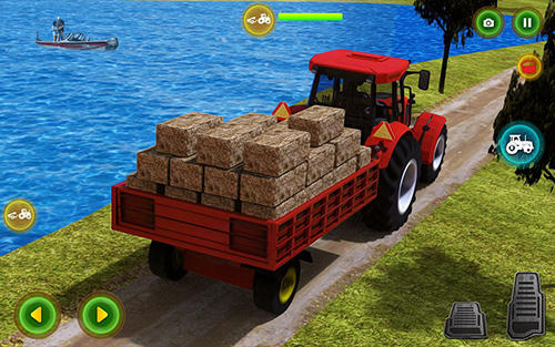 Screenshots von Modern tractor farming simulator: Real farm life für Android-Tablet, Smartphone.
