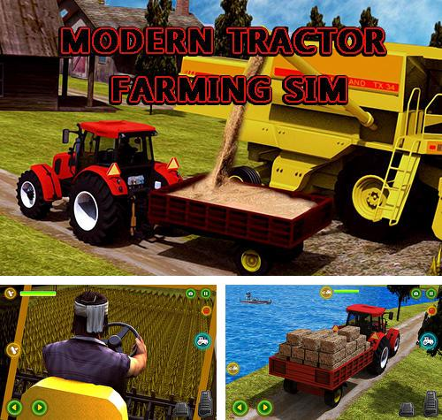 In addition to the game Canada's organic tractor farming simulator 2018 for Android phones and tablets, you can also download Modern tractor farming simulator: Real farm life for free.