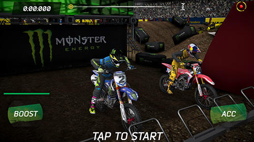 Jouer à Monster energy supercross game pour Android. Téléchargement gratuit de Energie monstre: Supercross.