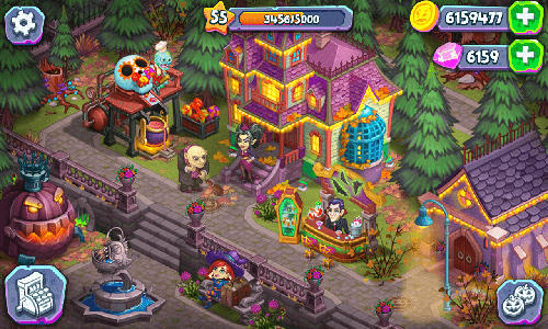 Juega a Monster farm: Happy Halloween game and ghost village para Android. Descarga gratuita del juego Granja de monstruos: Feliz Halloween y pueblo de fantasmas.