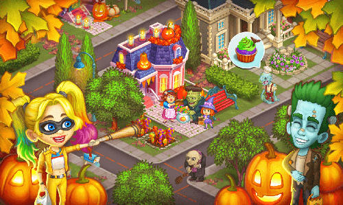 Capturas de pantalla de Monster farm: Happy Halloween game and ghost village para tabletas y teléfonos Android.